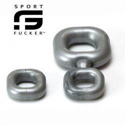 Sport Fucker Boner Kit Metal di 2 + 1 cockring & ballstretcher