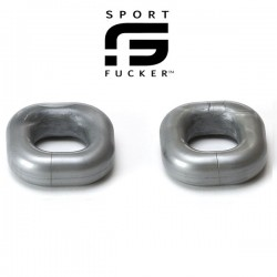 Sport Fucker Boner Expansion Kit Metal 2 pezzi cockring e ballstretcher