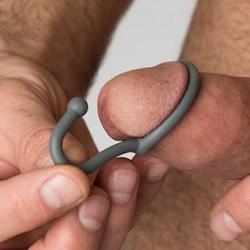 Sport Fucker Silicone Cum Stopper Metal cockring anello glande ferma sperma