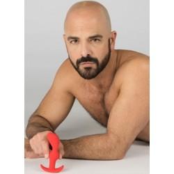 Sport Fucker CrossFit Plug Red Medium Silicone massaggiatore prostata plug anale