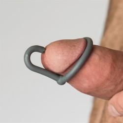 Sport Fucker Silicone Cock Plug Metal cockring anello glande ferma sperma