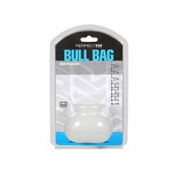 Perfect Fit Bull Bag Ball Stretcher Standard Clear contenitore estensibile per testicoli bianco opaco