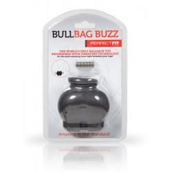 Perfect Fit Bull Bag Ball Stretcher Buzz Black ballstretcher vibrante contenitore estensibile per testicoli nero