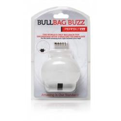 Perfect Fit Bull Bag Ball Stretcher Buzz Clear ballstretcher vibrante contenitore estensibile per testicoli trasparente