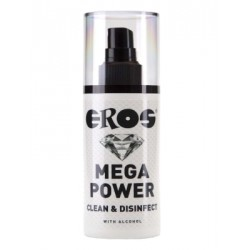 Eros Mega Power Clean And Disinfect 125ml. disinfettante igienizzante per sex toys