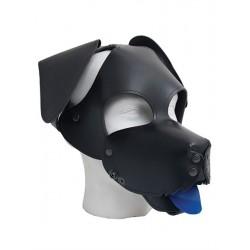 Mister B Floppy Dog Hood maschera testa di cucciolo con muso orecchie lingua in pelle