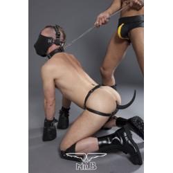 Bon4 Silicone Puppy Tail Butt Plug Medium dilatatore anale coda di cucciolo in silicone nero
