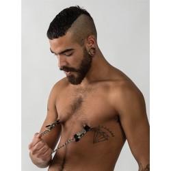 Mister B Mawa Nipple Clamps XL tit toys pinze tortura capezzoli con catena