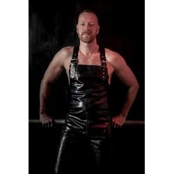 Mister B Rubber Work Overallstuta tuta salopette rubber gomma con zip