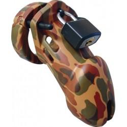 CB-6000 Chastity Cage Camouflage 82.5 mm. x 35 mm. gabbia di castità per il pene
