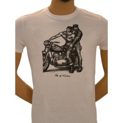 Tom of Finland Motorcycle T-Shirt (Euro Size) White maglietta