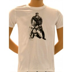 Tom of Finland Harness Duo T-Shirt (Euro Size) White maglietta