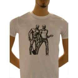 Tom of Finland Construction Duo T-Shirt (Euro Size) White maglietta