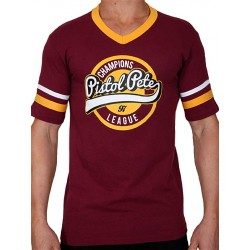 Pistol Pete Champions Short Sleeve Tee T Shirt Red Wine maglietta