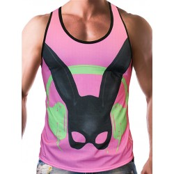 Gian Gianni Pink Rabbit Tank Top Multi canotta