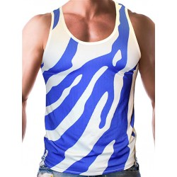 Gian Gianni Blue Safari Tank Top Multi canotta
