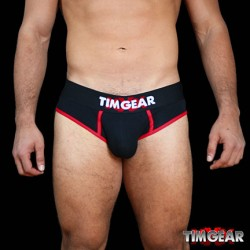 TIM Gear Brief Underwear Black slip intimo uomo