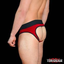 TIM Gear Jock Brief Underwear Red slip speciale aperto dietro intimo uomo