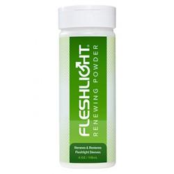 Flashlight Renewing Powder flacone 118 ml. polvere per rinnovare e ripristinare il masturbatore Fleshlight Flashjack