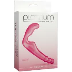 Platinum Premium The Gal Pal Pink doppio dildo stimolatore in silicone