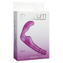 Doc Johnson Platinum Premium The Gal Pal Purple doppio dildo stimolatore in silicone