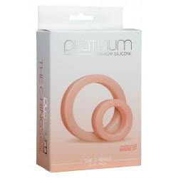 Platinum C- Rings Flesh cockring anello pene e ballstretcher in silicone