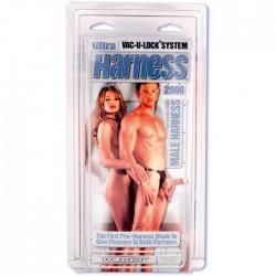 Doc Johnson Ultra Harness 2000 Male Cock Vac-U-Lock kit mutanda imbragatura per uomo con dildo fallo realistico e plug
