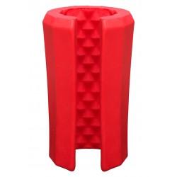 Platinum Tru Stroke Beaded Red masturbatore di silicone innovativo