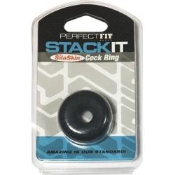 Perfect Fit Stack It Cock Ring Blue anello per il pene ball stretcher estensibile blue