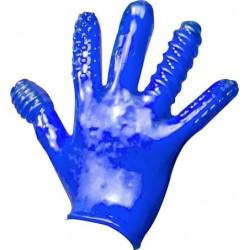 Oxballs Finger Fuck Textured Glove Police Blue guanto morbido con struttura per penetrare