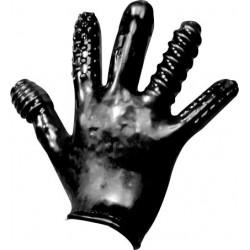 Oxballs Finger Fuck Textured Glove Police Black guanto morbido con struttura per penetrare
