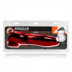Oxballs Fido Cock Sheath Red extender estensione del pene rosso forma del pene di cane