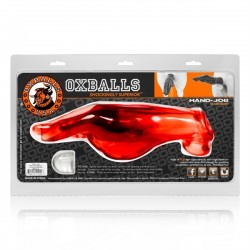 Oxballs Hand Job Cock Sheath Red extender estensione del pene fist fucking mano rosso