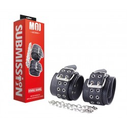 MOI Double Barrel Wrist Cuffs With Iron Chain restrizione regolabili per polsi con catenelle