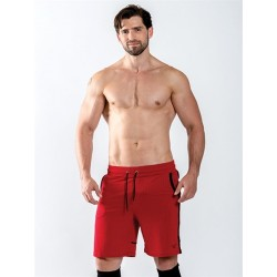 Mister B URBAN Sheffield Shorts Red calzoncini rosso nero