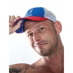 Mister B URBAN Cap Blue Red White baseballcap cappellino baseball blue rosso bianco