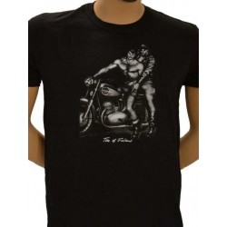 Tom of Finland Motorcycle T-Shirt (Euro Size) Black maglietta