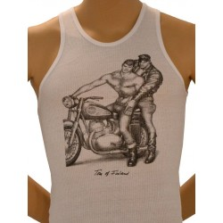 Tom of Finland Motorcycle Tank Top (Euro Size) White bianco
