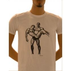 Tom of Finland Life Guard T-Shirt (Euro Size) White maglietta bianco