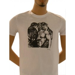 Tom of Finland Hard Place T-Shirt (Euro Size) White maglietta bianco