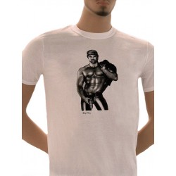 Tom of Finland Hot & Heavy T-Shirt (Euro Size) White maglietta bianco