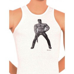 Tom of Finland Master Tank Top (Euro Size) White canotta bianco