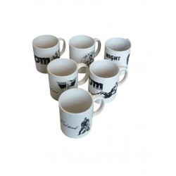 Tom of Finland Coffee Mug 6 Set confezione di 6 tazze in ceramica
