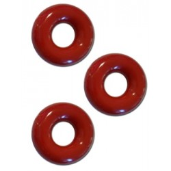 Sport Fucker Chubby Rubber Cockring Red 3 cockrings & ballstretcher estensibili