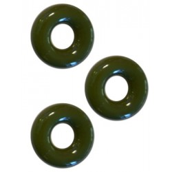 Sport Fucker Chubby Rubber Cockring Army Green 3 cockrings & ballstretcher estensibili