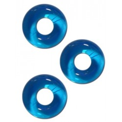 Sport Fucker Chubby Rubber Cockring Ice Blue 3 cockrings & ball stretcher estensibili