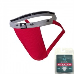 "MM Jocks Adult Supporter 1"" bike style original edition Red jockstrap sospensorio rosso"