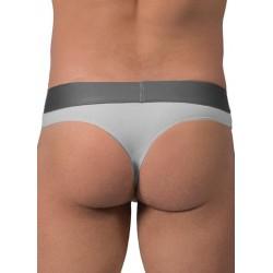 Rounderbum Thong Underwear Grey tanga perizoma intimo uomo