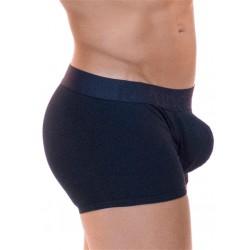 Rounderbum Package Boxer Trunk Underwear Black boxer calzoncini nero con imbottitura aumenta pacco intima uomo