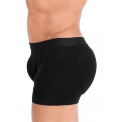 Rounderbum Padded Boxer Brief Underwear Black boxer brief calzoncini più corti e imbottiti intimo uomo